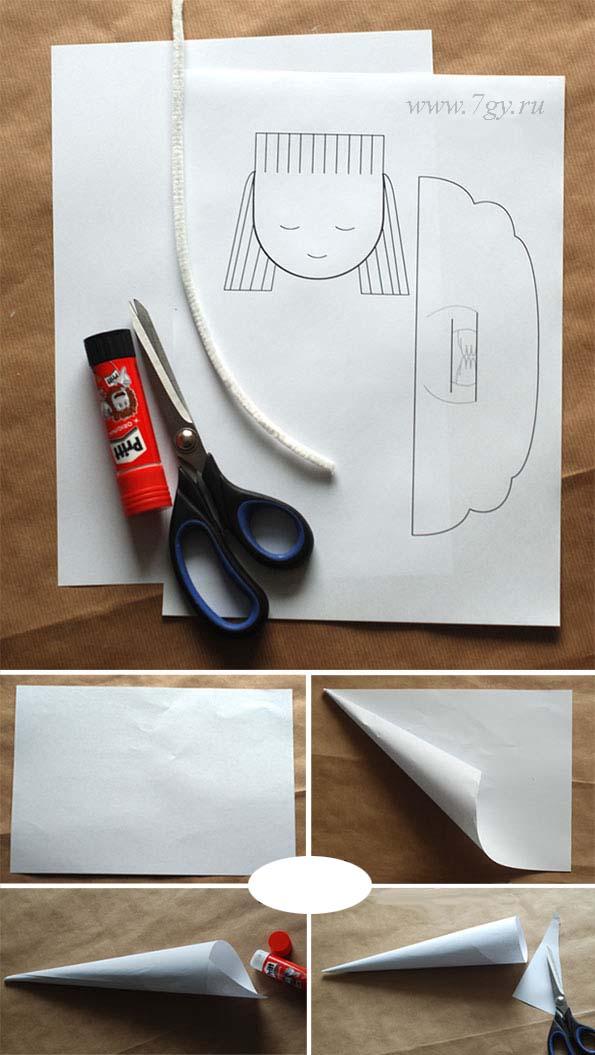 Сделать своими руками ангелочка из бумаги
