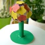 Поделка Чудо-дерево из цветной бумаги и картона для детей