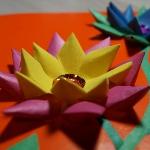 Объемная водяная лилия из бумаги для детей