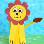 Лев из втулки от туалетной бумаги. Поделка для детей
