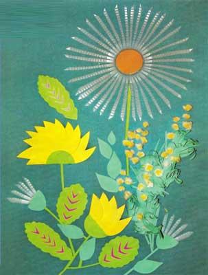 Аппликации из цветной бумаги открытка