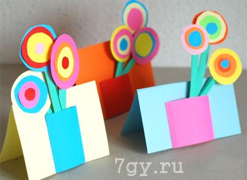 Букет из бумаги к 8 марта для детского салда