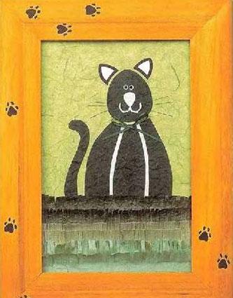 Кошки - шаблоны аппликации из цветной бумаги