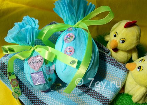 Поделка Пасхальное яйцо для детей своими руками