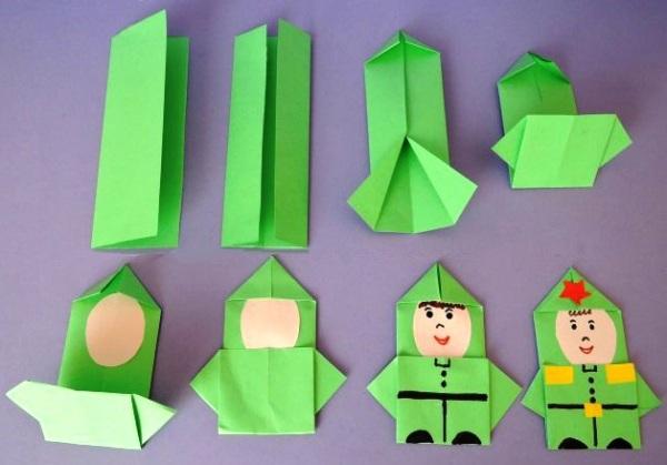 Спокойной, картинки оригами к 23 февраля