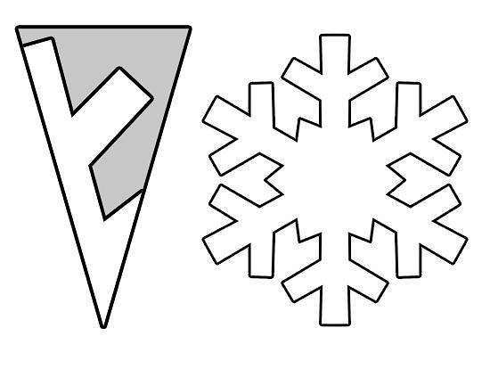 Простые снежинки из бумаги для детей