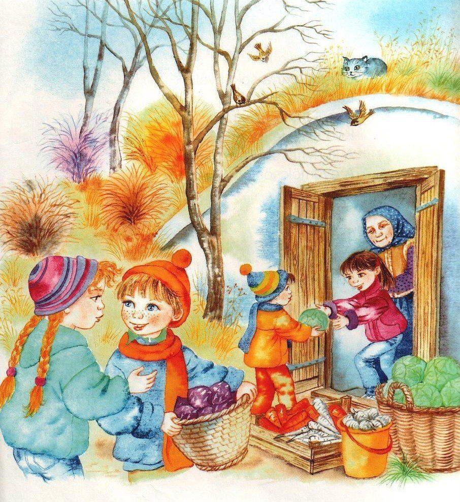 Стихами, осень на картинках для детей