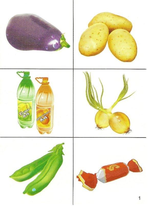 Картинки продуктов питания для детского сада