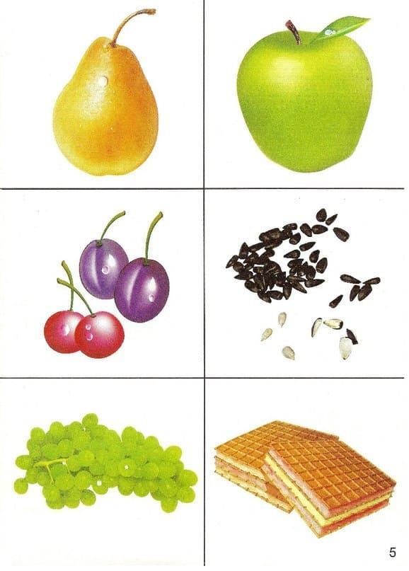 Продукты питания в картинках для дошкольников
