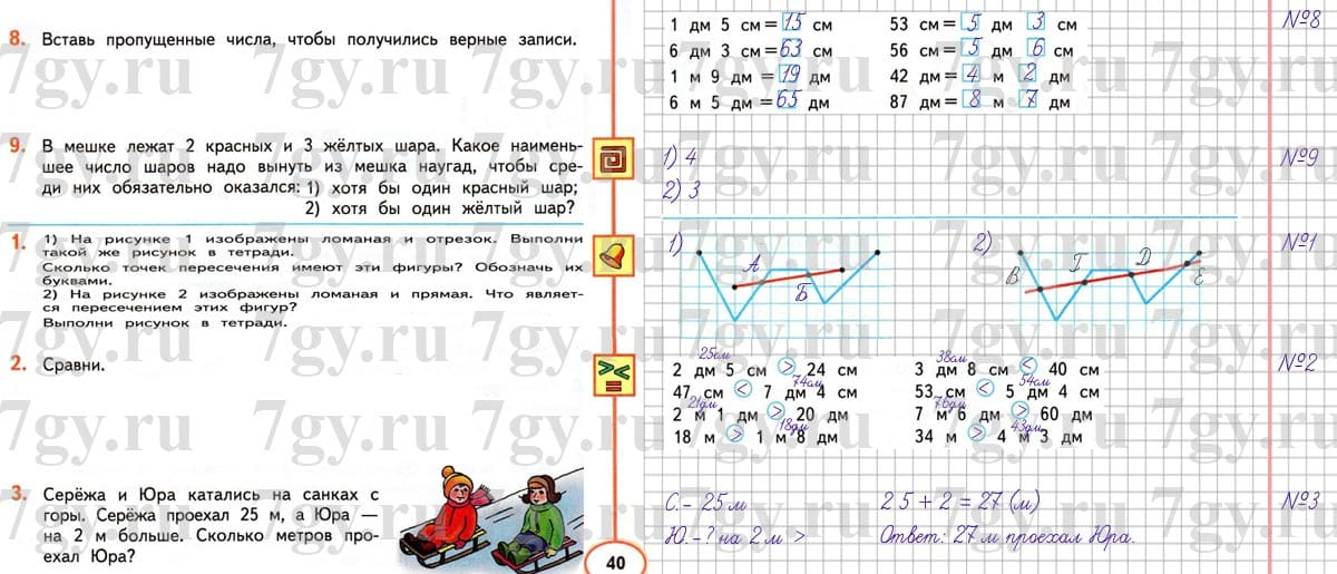 2 класс гдз учебнику дорофеев математика по