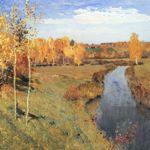 Сочинение по картине И.И. Левитана «Золотая осень» 3,4,5 класс