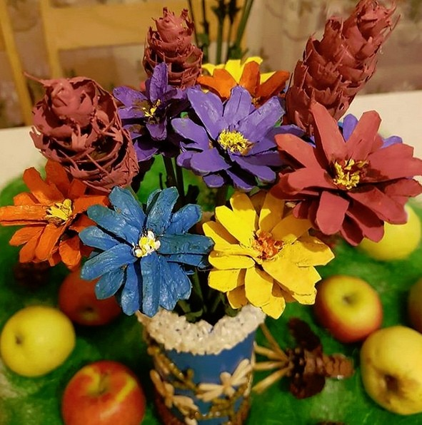 поделка букет цветов своими руками чем особенность этой