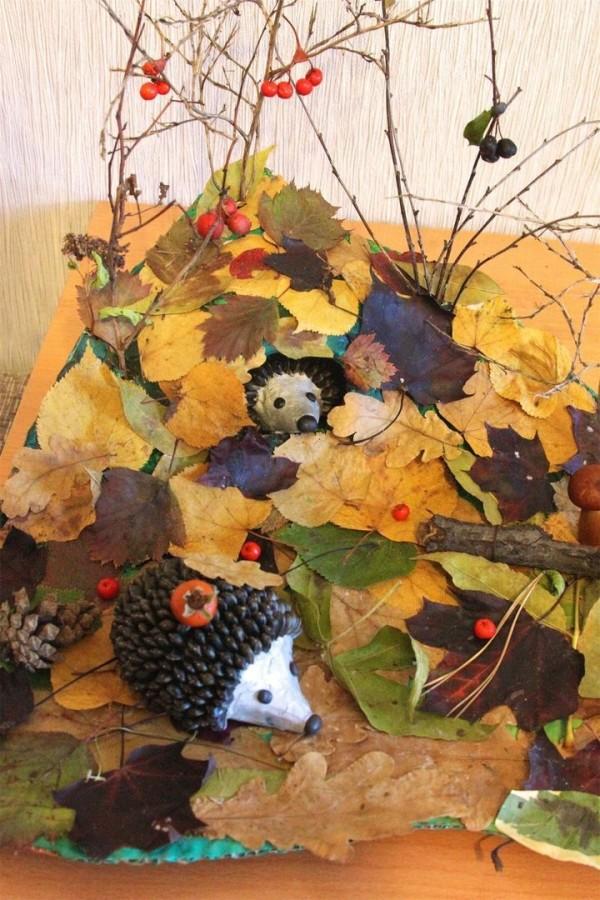 Поздравлением ивана, картинки из природных материалов своими руками на тему осень фото