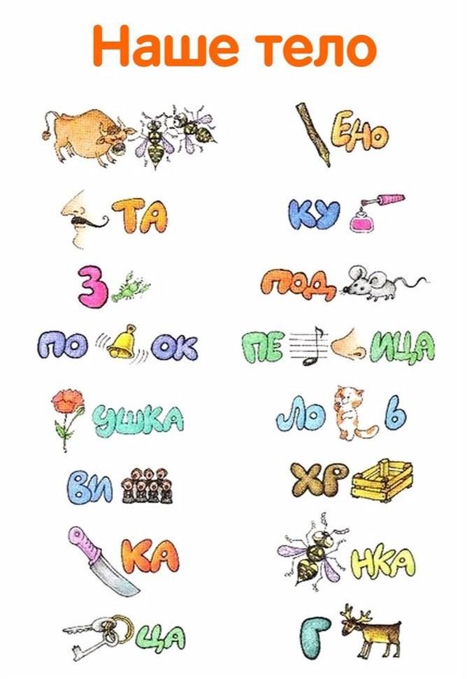 Веселые ребусы для дошкольников в картинках