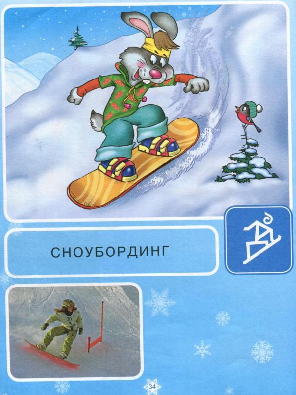 Зимние виды спорта для детей дошкольного возраста в картинках, введением
