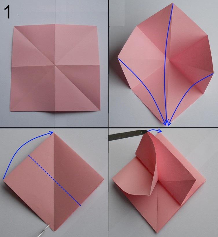 Как сделать объемную розу из бумаги фото 31