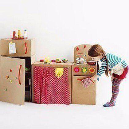 Плиты из коробок для детей своими руками