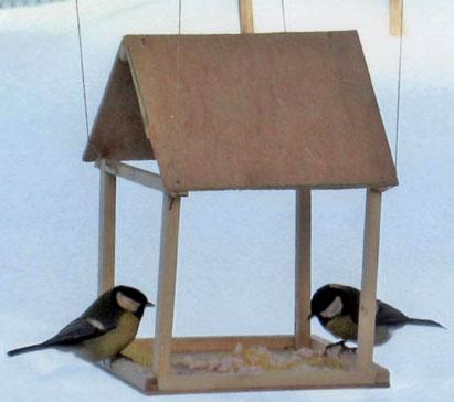 Как сделать простую кормушку для птиц фото 684